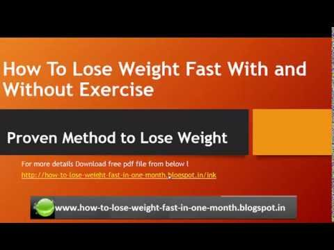 How to Lose Weight Fast at Home without exercise for men and women
