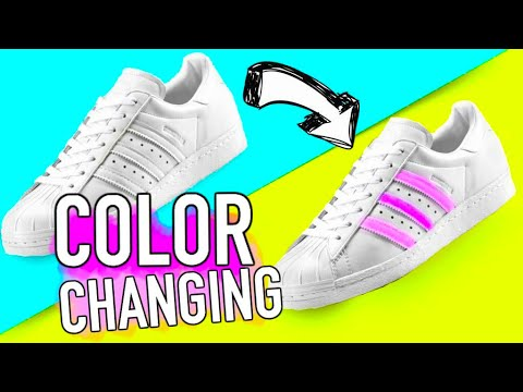 DIY Color Changing Shoes! DIY ideas you need to try!