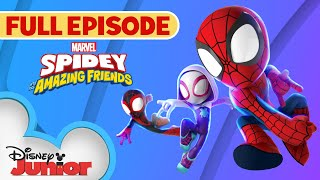 Spidey To the Power of Three | Marvel's Spidey and His Amazing Friends | Full Episode  Disney Junior