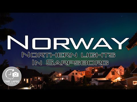Time Lapse - Northern lights in Sarpsborg, Norway