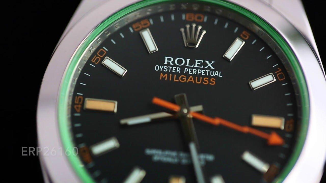 Rolex Milgauss (Black Dial, Green Crystal) 116400V