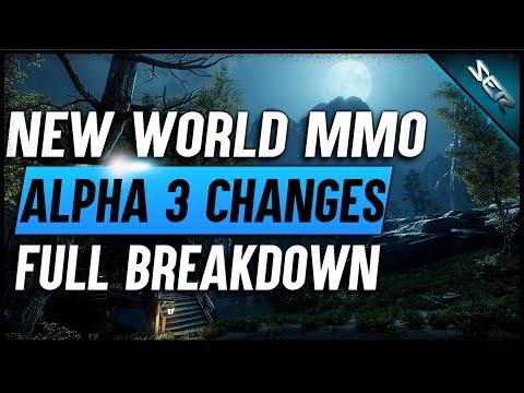Amazon's ❄️NEW WORLD MMO ALPHA 3 CHANGES BREAKDOWN  (Combat, Equipment & Crafting, Attributes)