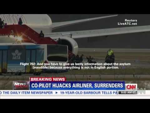 Ethiopian airline hijack cockpit audio