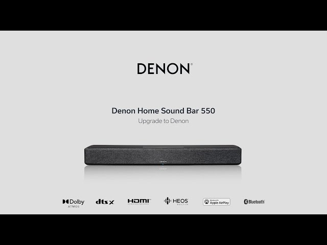 Introducing Denon Home Sound Bar 550