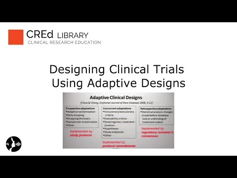 Designing Clinical Trials Using Adaptive Designs