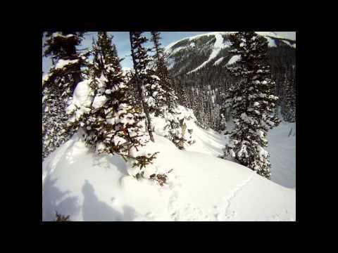 Skiing the cliffs at Sunshine Village - Banff, Alberta