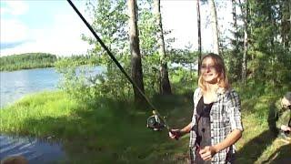 Девушки на рыбалке. Озеро Черное. (Часть 2)(Поездка на озеро Черное, отдых и реабилитация Миши., 2016-08-05T10:16:34.000Z)