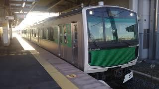 【EV-E301系】烏山線EV-E301系V2編成 岡本駅発車