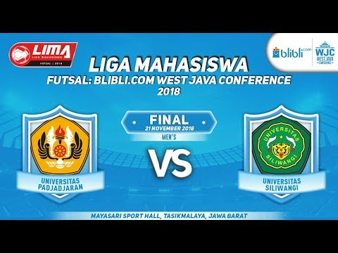 FINAL UNPAD VS UNSIL  LIMA FUTSAL : BLIBLI.COM WEST JAVA CONFERENCE 2018
