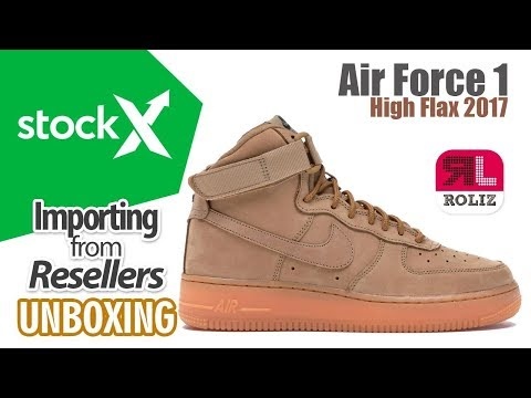 half off 4d4ef 566a9 Stockx - Nike Air Force 1 High Flax 2017 UNBOXING   Importa de USA a PERÚ