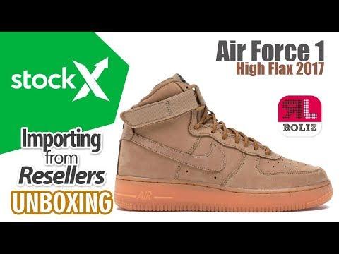 half off 79427 dfbc0 Stockx - Nike Air Force 1 High Flax 2017 UNBOXING   Importa de USA a PERÚ