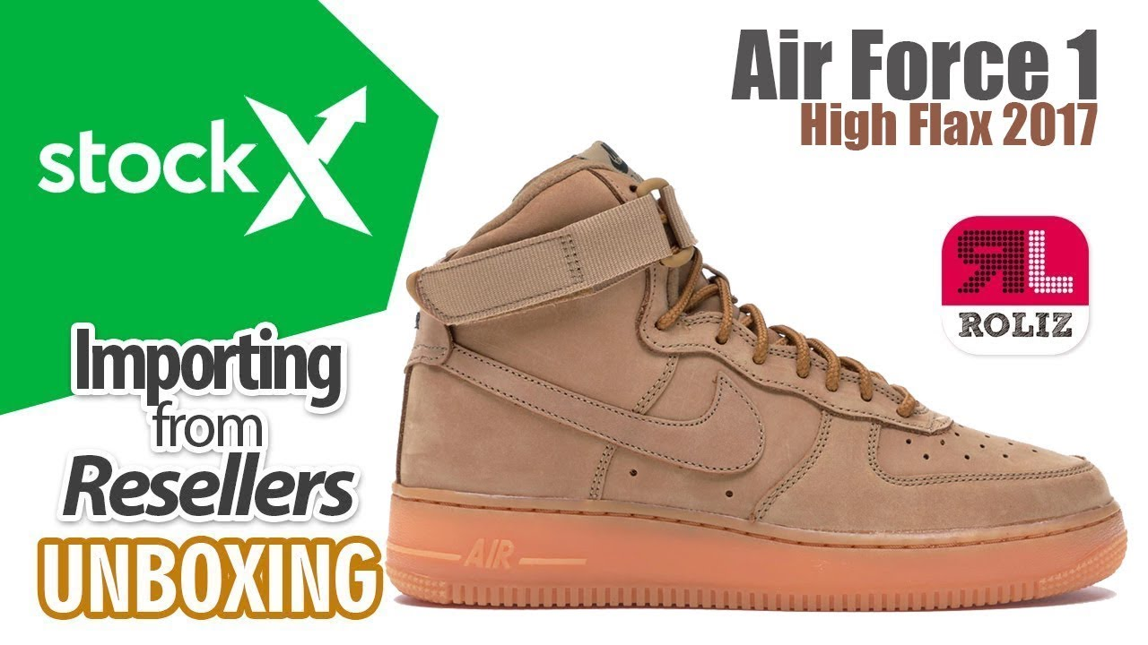 Stockx Nike Air Force 1 High Flax 2017 UNBOXING | Importa de USA con #RolizPerú