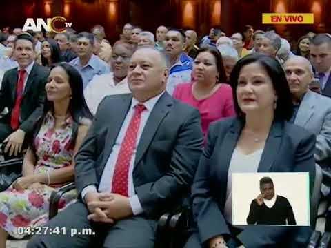 Asamblea Nacional Constituyente, 19 junio 2018 (completa), Diosdado Cabello como nuevo presidente