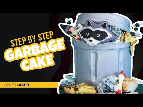 How To Make A CRAZY Garbage Cake by Cassie Garner   How To Cake It Step By Step