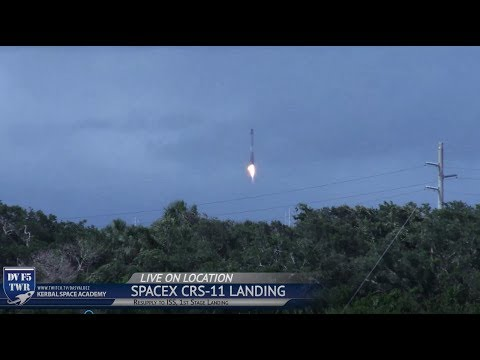 SpaceX CRS-11 RTLS Sonic Boom Shakes Camera, 6 Miles from LZ1