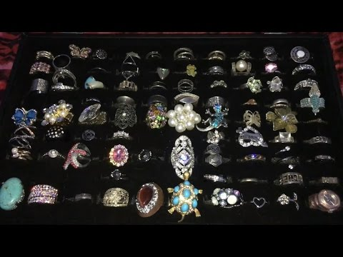 ASMR Ring Collection Show and Tell (Whispered)