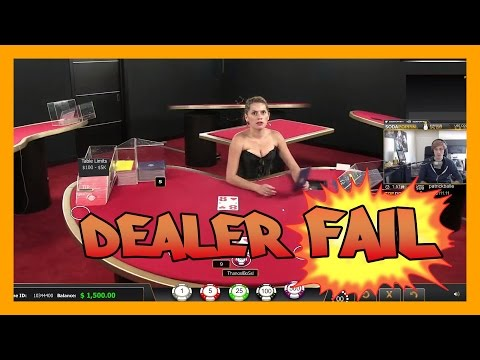 Live Blackjack dealer FAILS