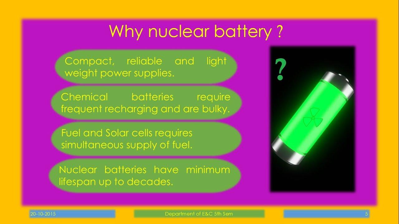 Nuclear Micro Batteries Seminar Pdf