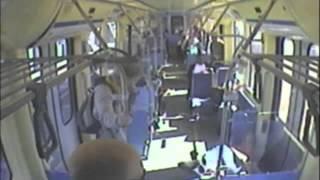 Pro Wrestler Turns Vigilante On Train