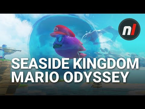 Exploring the New Seaside Kingdom in Super Mario Odyssey | Seaside Kingdom Gameplay