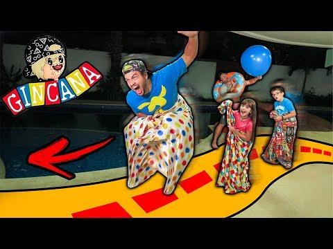 GINCANA DO LUCCAS EM GRUPO !!! (CORRIDA DE SACO)