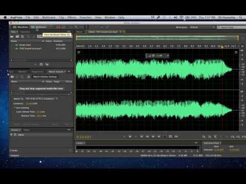How to make your own DJ Drop in 5 minutes with Adobe Audition CC