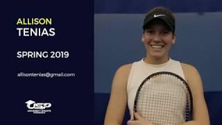 Allison Tenias - Tennis Recruiting Video - Spring 2019