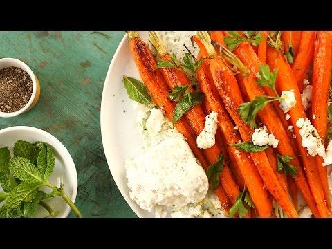 Roasted Carrots with Parsley Yogurt Everyday Food with Sarah Carey