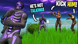 I'm NOT ALLOWED to TALK to my TEAMMATES on Fortnite... (they got MAD!)