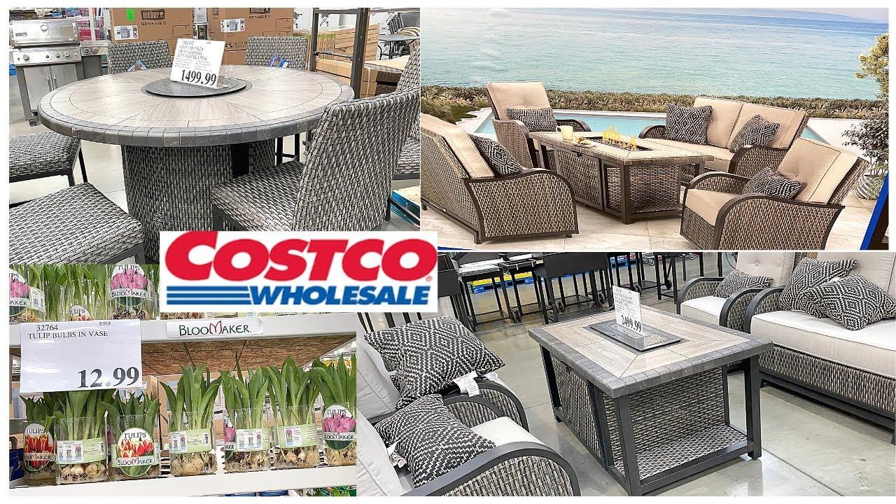 costco patio outdoor furniture outdoor patio dining sets walkthrough shop with me portofino
