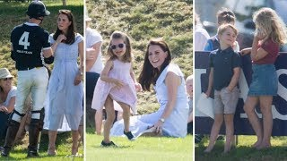 Kate Middleton with children Charlotte and George during Princ…