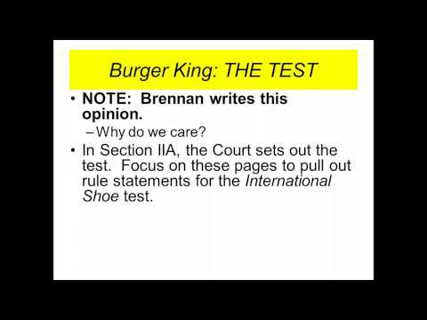 Burger King Preparation Video