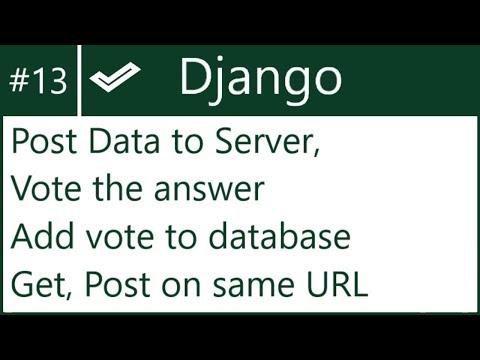 13 | Add data to DB without Django form | by Hardik Patel - YouTube