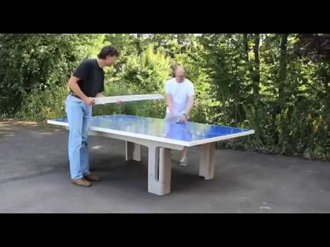 Video: Sport-Thieme Table de tennis de table en béton polymère « Pro »
