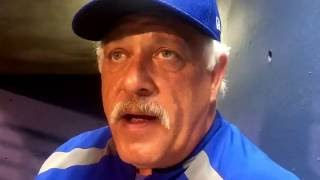 Manager Wally Backman after the doubleheader against Salt Lake