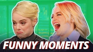 emma stone has a growling stomach funny moments