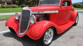 1934 Ford 3-Window Coupe Street Rod for Sale
