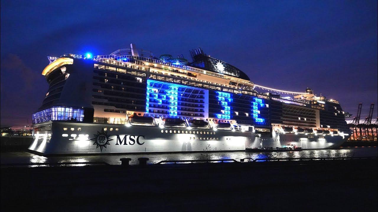 Msc Grandiosa Bereit Zur Taufe Im Blue Port 20 Hamburg 2019