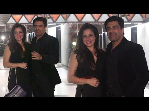 Neelam Kothari with Husband Samir Soni at Sanjay Kapoor New Year Party