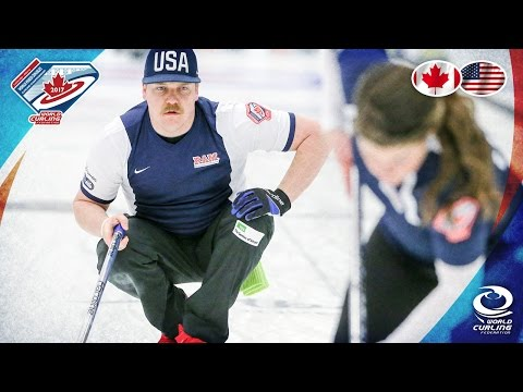 Canada v USA - Round-robin - World Mixed Doubles Curling Championship 2017