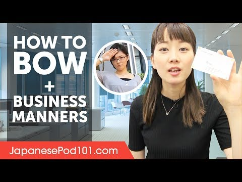 How to Bow in Japan and Manners - Business Etiquette