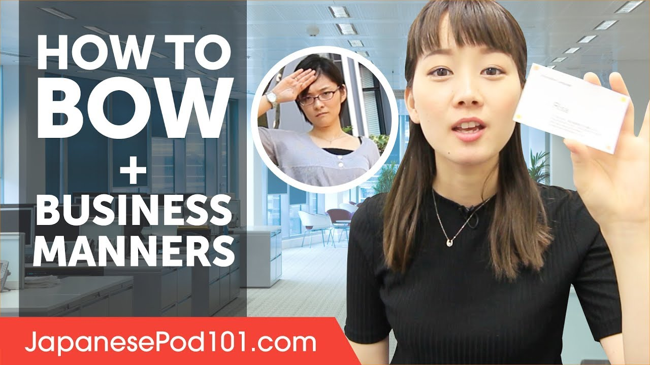 How To Bow In Japan And Manners Business Etiquette Youtube