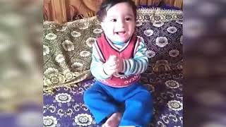 Cute baby laughing funny video