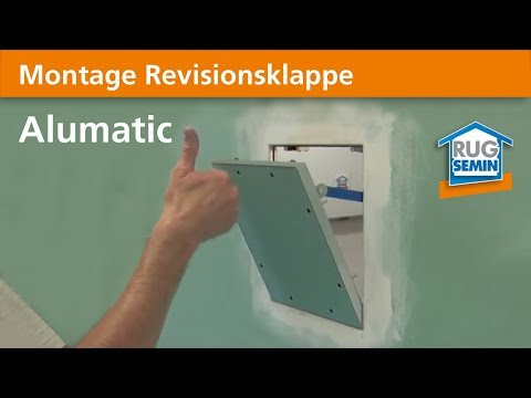 Montage Revisionsklappe Alumatic 22258 RUG SEMIN