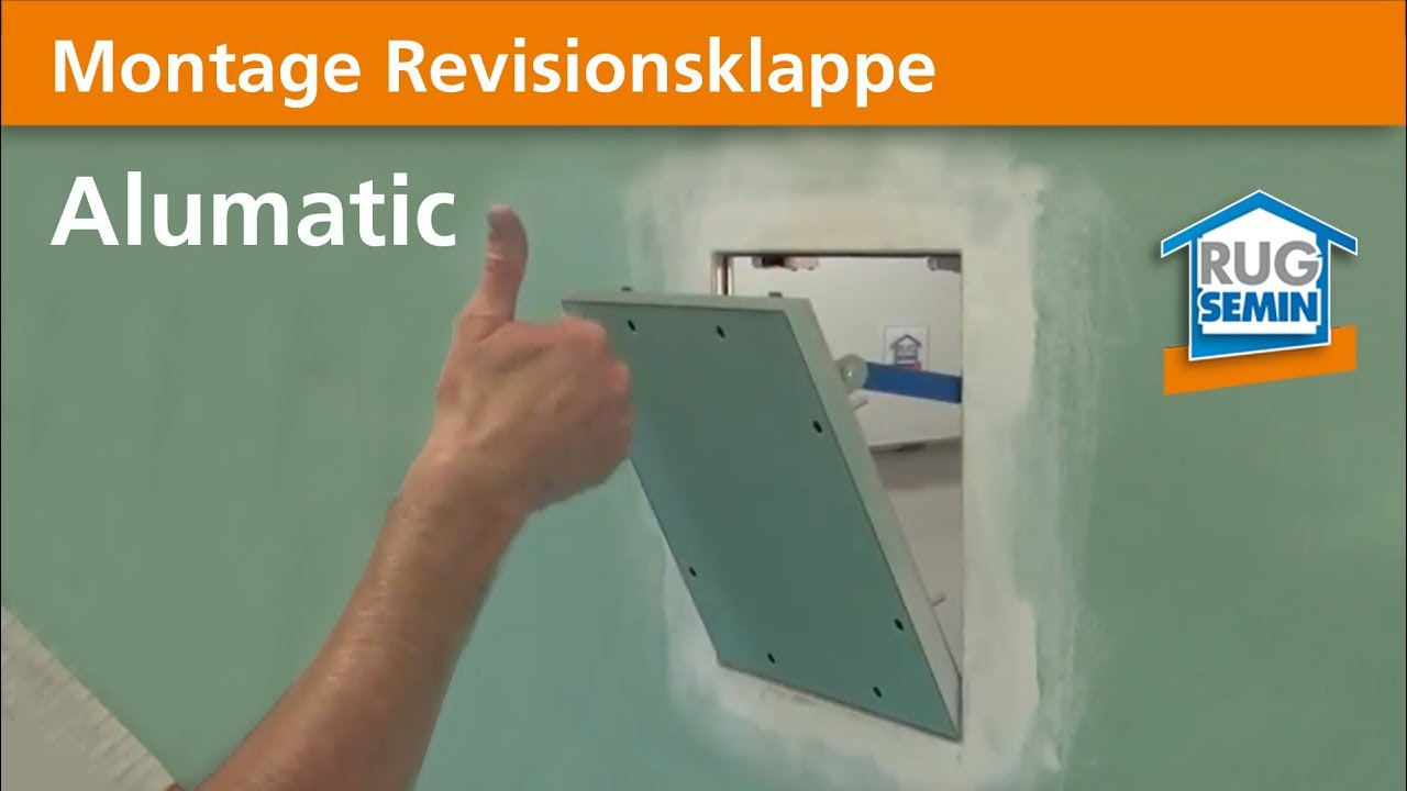 Gut bekannt Montage Revisionsklappe Alumatic 22258 RUG SEMIN - YouTube FP08
