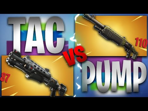THE ONLY* In Depth Tac Vs Pump Fortnite Review