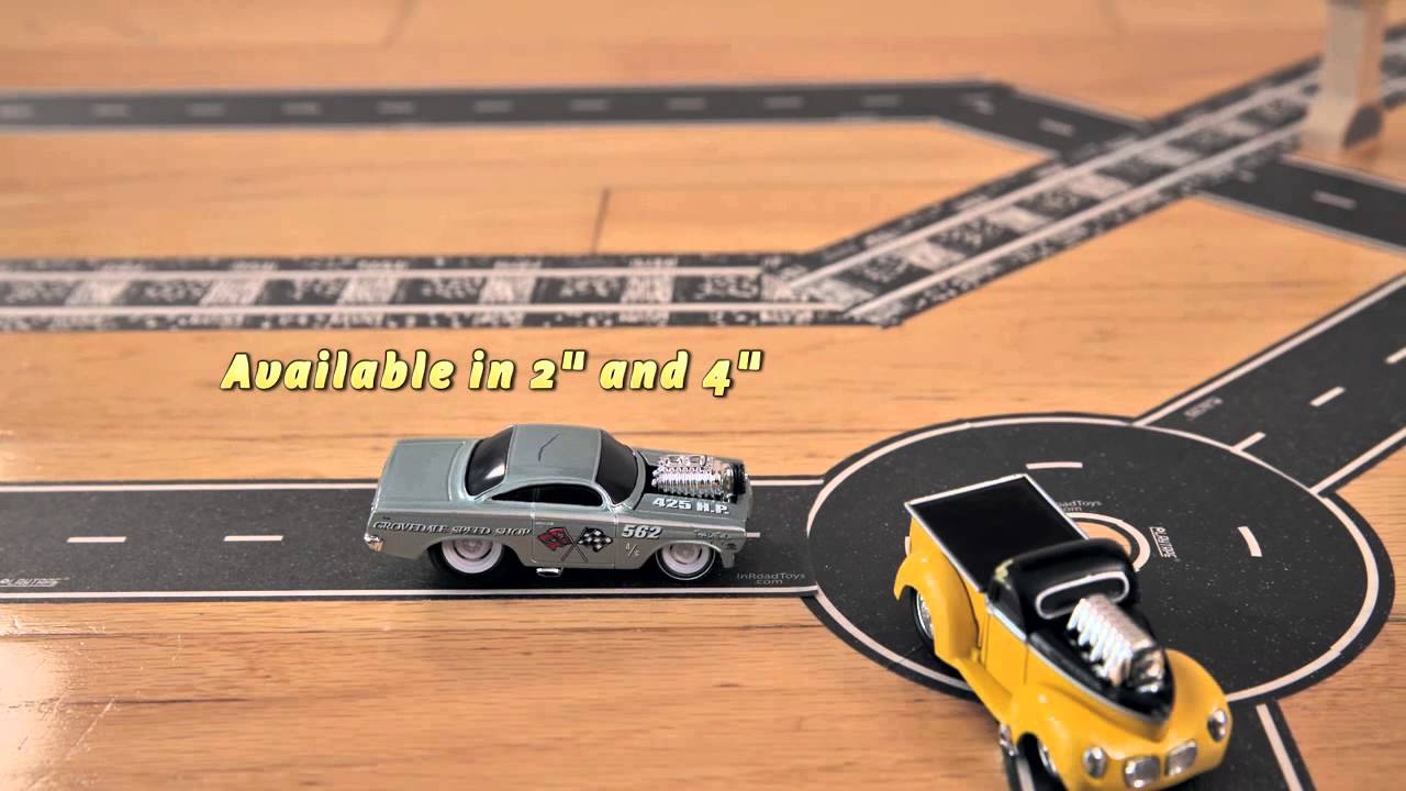 "4/"" X  30/"" BLACK inroads Play Tape Asphalt Road 1//64 scale"