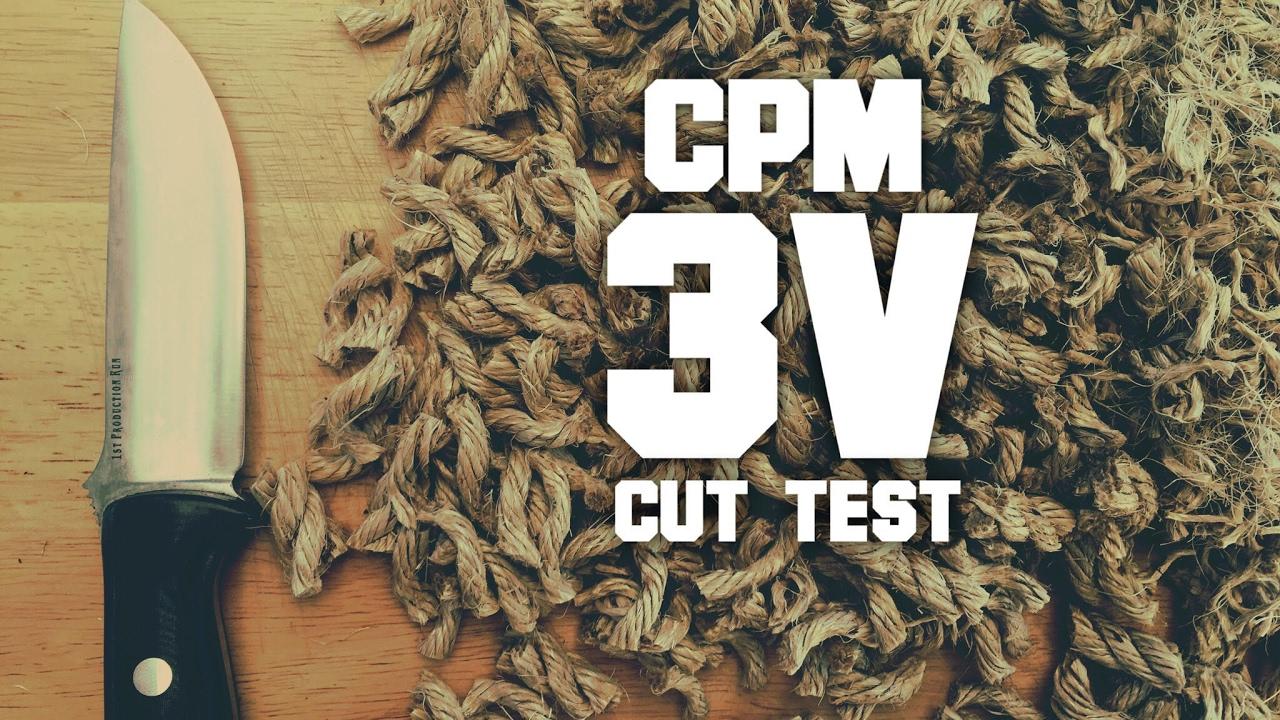 Edge Retention Test! CPM 3V - How much better than 1095? Bark River Bravo 1  LT