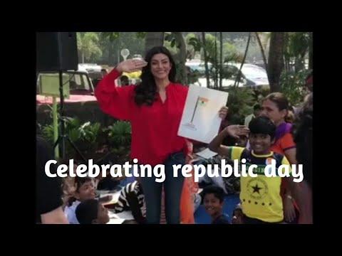 Shusmita Sen celebrating Republic day with 300 children   celeb post  
