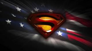 SUPERMAN ANIMATED FLAG WITH USA ANTHEM HD **free Use**